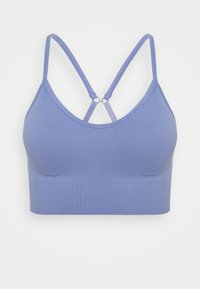Cotton On Body - LIFESTYLE SEAMLESS V NECK CROP - Sports bra - periwinkle chevron - 0