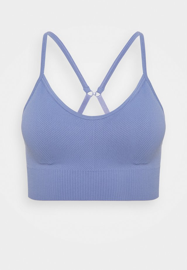 LIFESTYLE SEAMLESS V NECK CROP - Sport BH - periwinkle chevron