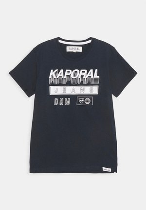 LOGO 3D - T-shirt con stampa - navy