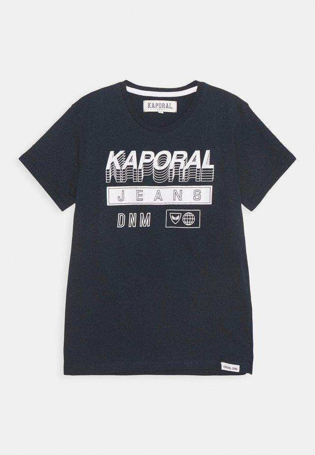 LOGO 3D - Print T-shirt - navy