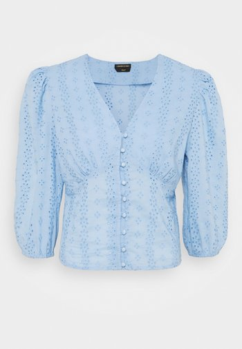 ELINE BROIDERIE ANGLAISE - Bluser - blue
