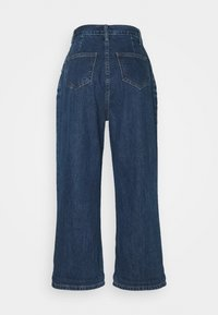 Lost Ink Petite - PLEAT FRONT WIDE LEG - Relaxed fit jeans - dark denim - 1