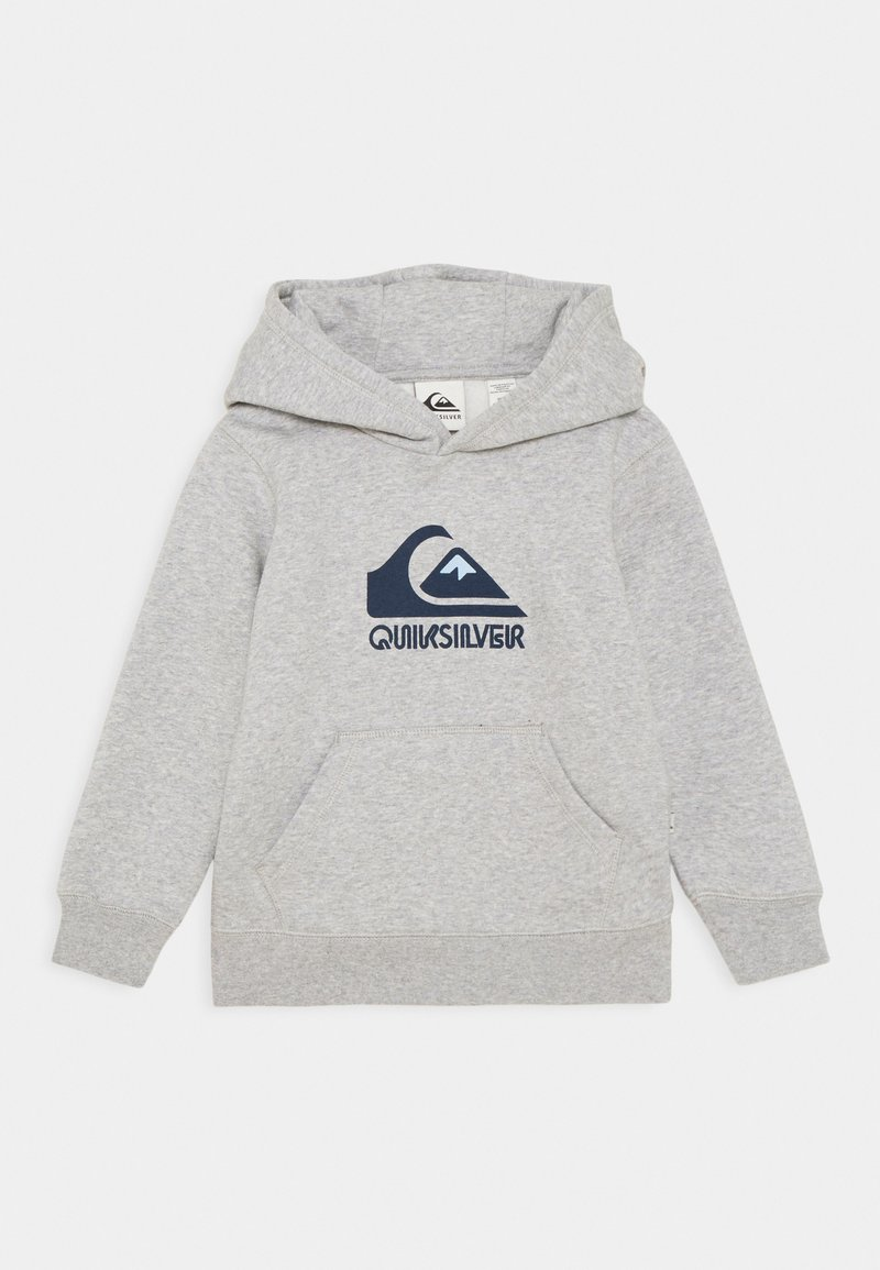 Quiksilver - BIG LOGO - Felpa con cappuccio - light grey heather