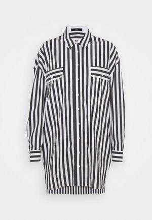 EVE LONG BLOUSE - Button-down blouse - black