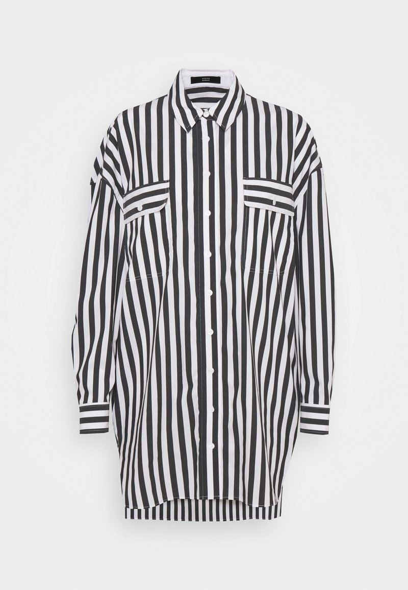 Steffen Schraut - EVE LONG BLOUSE - Button-down blouse - black