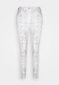 Pieszak - POLINE ANKLE SNAKE - Trousers - white / grey - 0