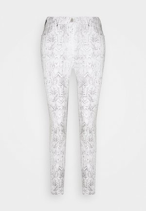 POLINE ANKLE SNAKE - Trousers - white / grey