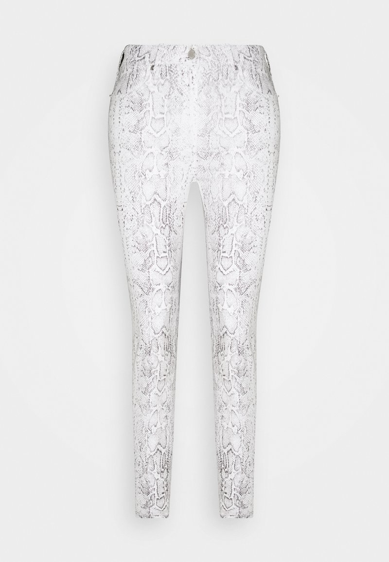 Pieszak - POLINE ANKLE SNAKE - Trousers - white / grey