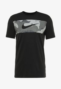 Nike Performance - DRY TEE CAMO BLOCK - Print T-shirt - black/white - 4