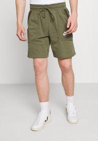 Nike Sportswear - AIR - Tracksuit bottoms - medium olive/cargo khaki/white - 0