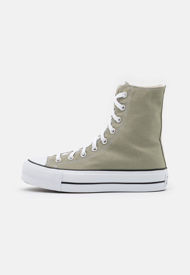 CHUCK TAYLOR ALL STAR LIFT - Zapatillas altas - light field surplus/white/black