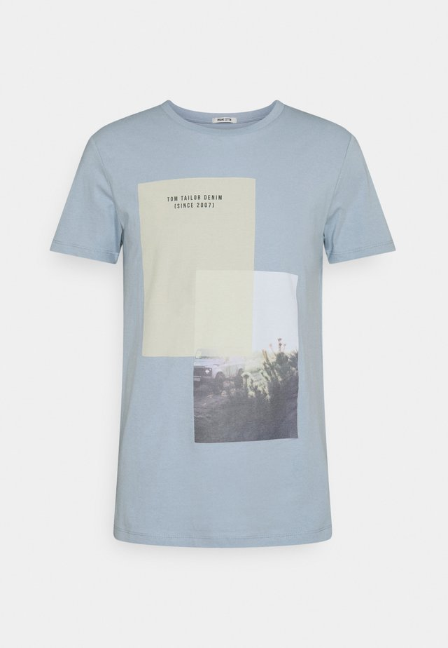 Print T-shirt - foggy blue