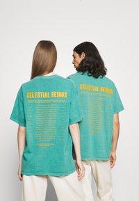 BDG Urban Outfitters - CELESTIAL TEE UNISEX - Print T-shirt - green - 2