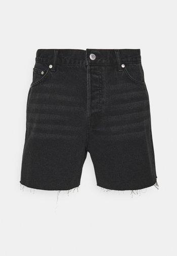 DRAUGHT - Denim shorts - washed black