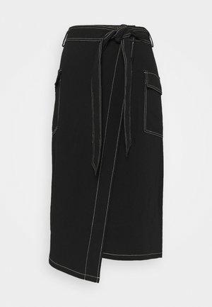 CINDI LENA SKIRT - Áčková sukně - black