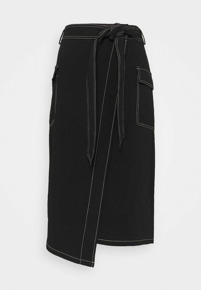 CINDI LENA SKIRT - Spódnica trapezowa - black