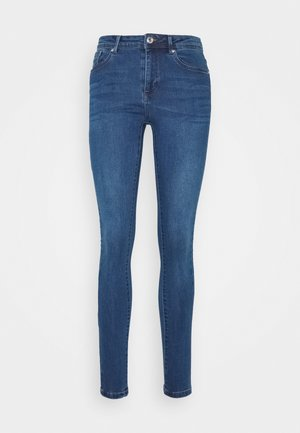 VMTANYA PIPING - Jeansy Skinny Fit - dark blue denim