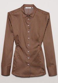 Eterna - MODERN CLASSIC SLIM FIT - Button-down blouse - braun - 4