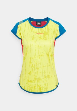 CORE - T-shirt print - celery/neptune