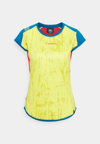 CORE - T-shirt con stampa - celery/neptune