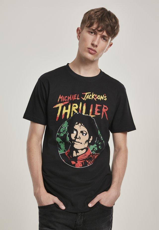 HERREN MICHAEL JACKSON THRILLER PORTRAIT TEE - T-shirt imprimé - black
