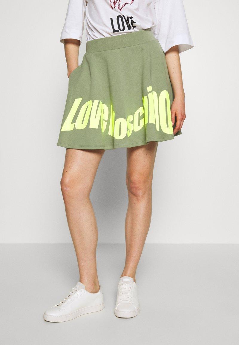Love Moschino - Jupe trapèze - green