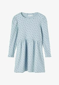 Name it - GEPUNKTETES RIPPDESIGN - Day dress - dusty blue - 0