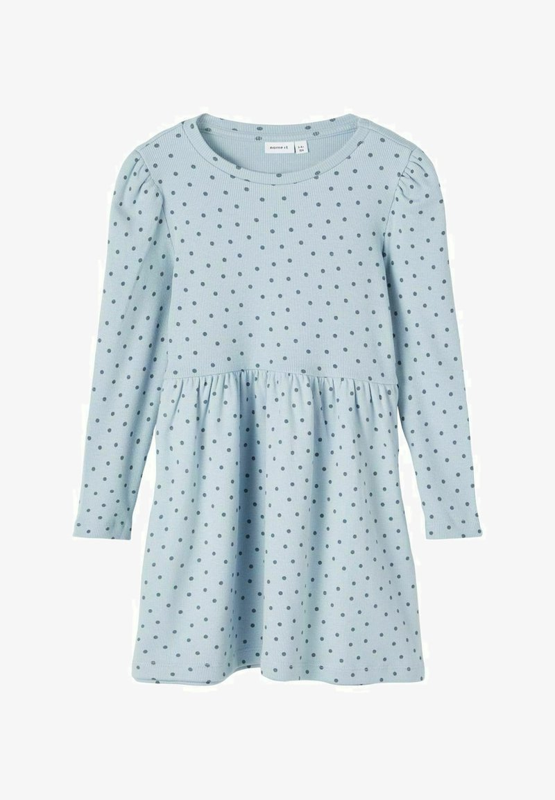 Name it - GEPUNKTETES RIPPDESIGN - Day dress - dusty blue