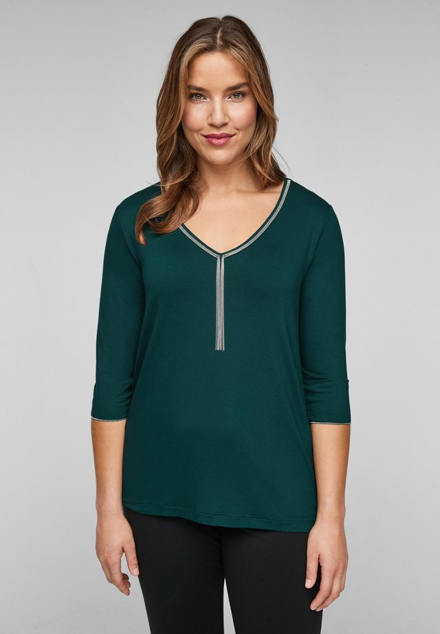 Long sleeved top - smaragd