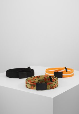 BELTS TRIO 3 PACK - Pasek - black/orange/white