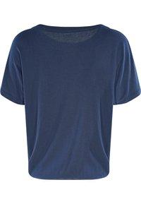 Mazine - MARBLE - Basic T-shirt - navy melange - 5