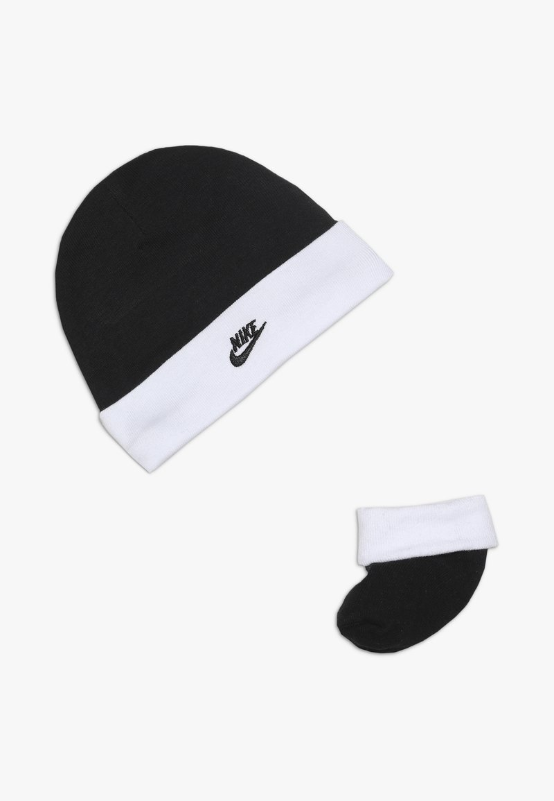 Nike Sportswear - FUTURA HAT AND BOOTIE BABY SET - Beanie - black