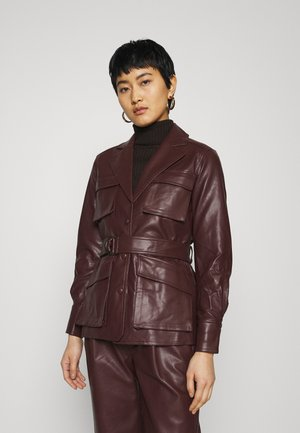 CECILIA JACKET - Faux leather jacket - reddish brown