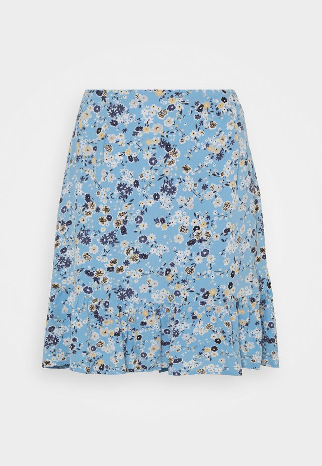 PCGERTRUDE SKIRT - Spódnica trapezowa - little boy blue
