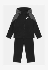 Nike Sportswear - MIXED MATERIAL SET - Tracksuit - black - 0