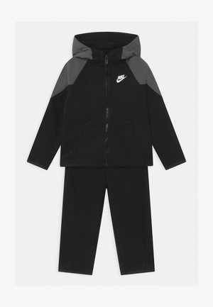 MIXED MATERIAL SET - Tracksuit - black