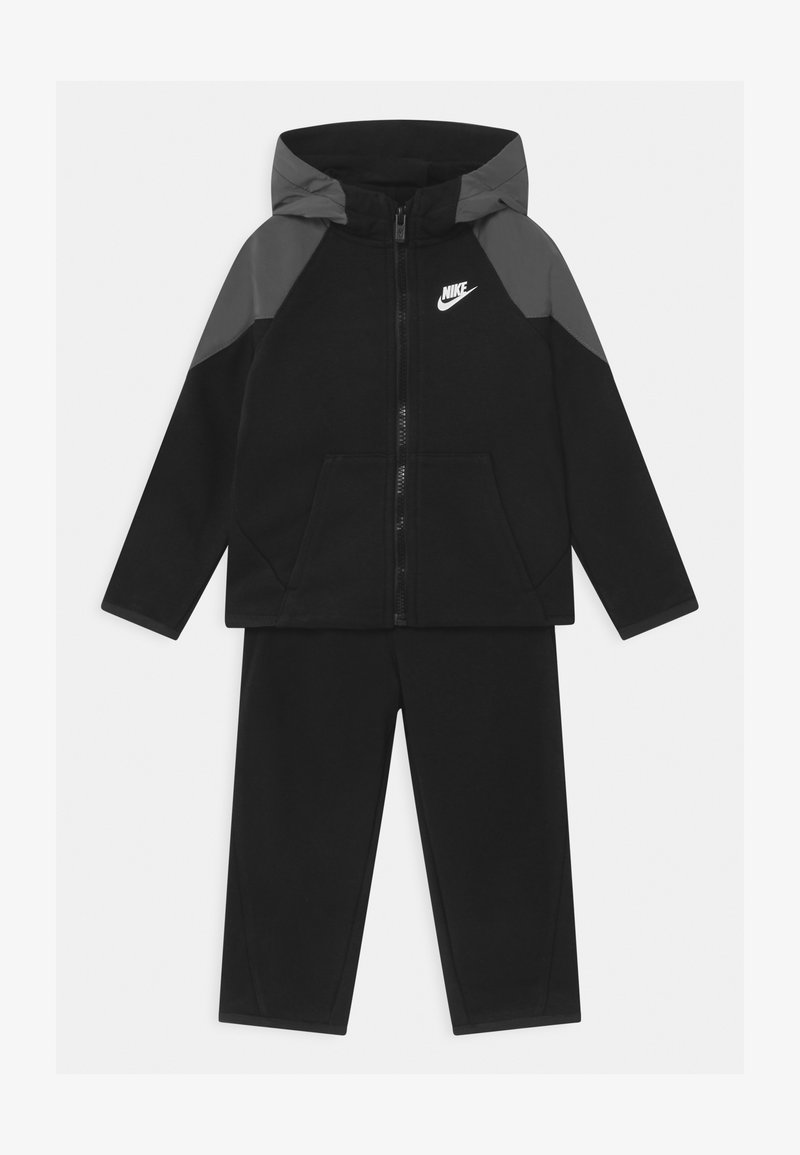 Nike Sportswear - MIXED MATERIAL SET - Tracksuit - black