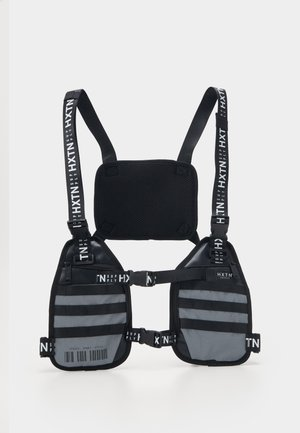 REFLECTIVE PRIME HARNESS - Across body bag - black/grey