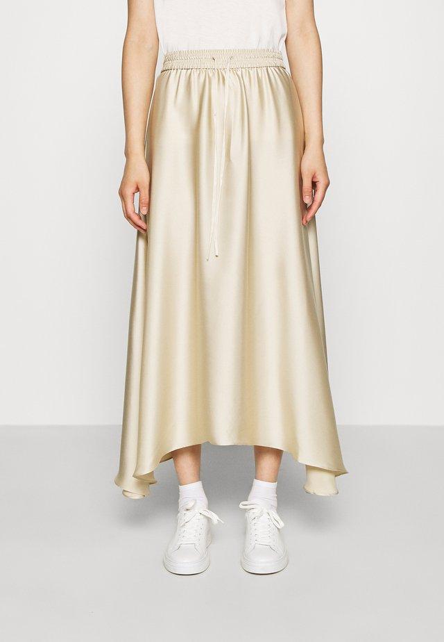 MAXI SKIRT - A-line skirt - beige dusty light