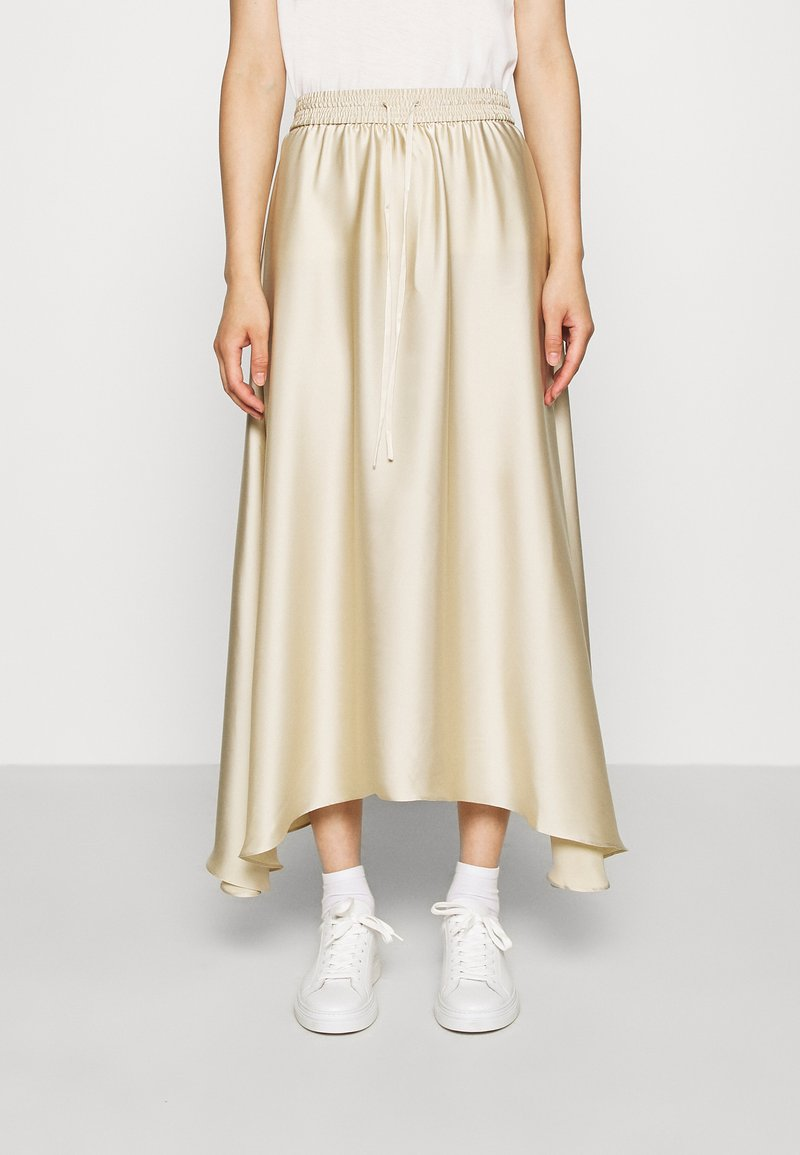 ARKET - MAXI SKIRT - A-lijn rok - beige dusty light