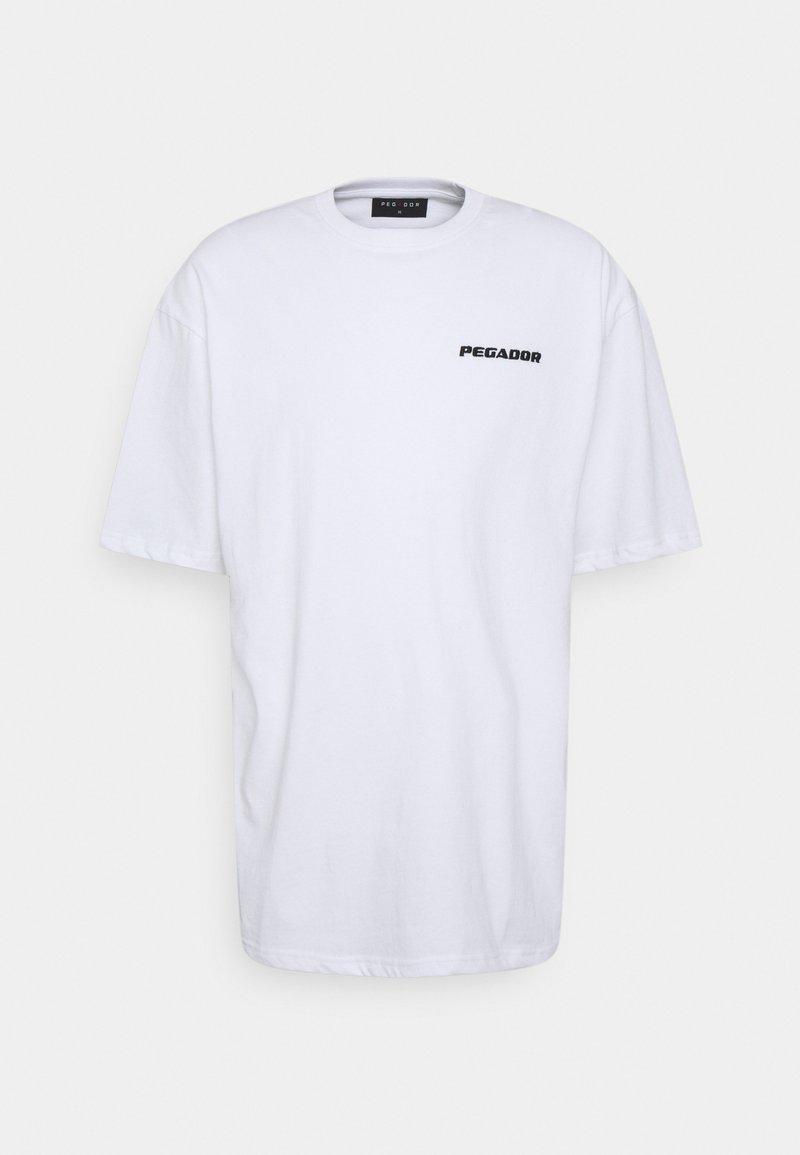 Pegador - LOGO OVERSIZED TEE UNISEX - Basic T-shirt - white