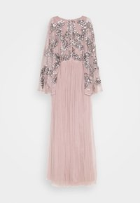 Maya Deluxe - CAPE SLEEVE MAXI DRESS WITH FLORAL EMBELLISHMENT - Ballkjole - frosted pink - 9