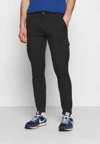 Jack & Jones - JJIMARCO CUFFED - Cargobyxor - black - 0