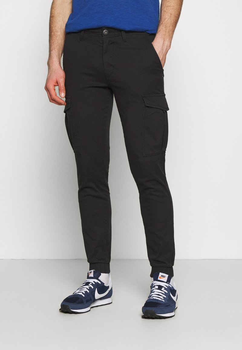 Jack & Jones - JJIMARCO CUFFED - Cargobyxor - black