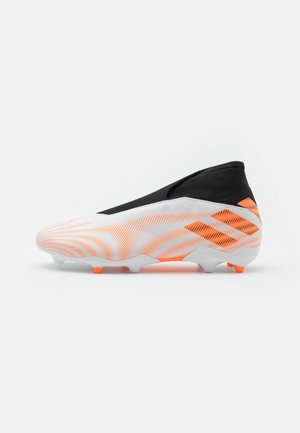NEMEZIZ .3 LL FG - Moulded stud football boots - footwear white/screaming orange/core black