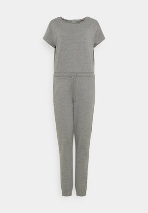 SWEAT - SHORT SLEEVES CINTERED JUMPSUIT - Overal - mottled grey