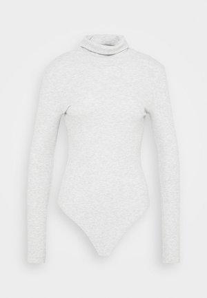 T-shirt à manches longues - mottled light grey