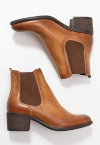 Anna Field - LEATHER - Ankle boots - cognac - 3