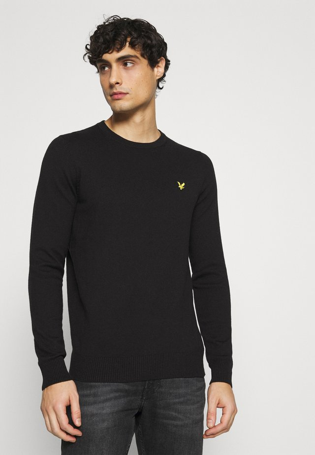 Crew Neck Jumper - Jumper - jet black