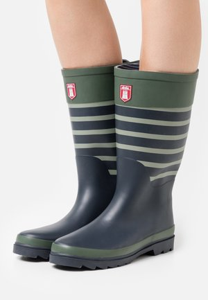 KRULLER STEVEL - Wellies - olive/navy